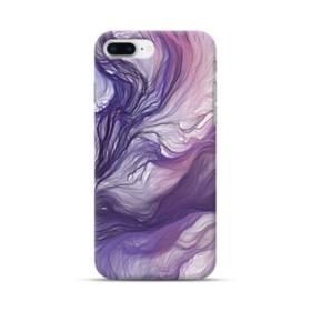 優雅な紫とブルー 抽象的な水彩絵 iPhone 8 Plus ポリカーボネート ハードケース