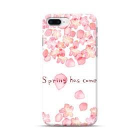 桜&デザイン英文 iPhone 8 Plus ポリカーボネート ハードケース