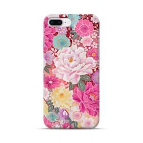 和の花柄:牡丹 iPhone 8 Plus ポリカーボネート ハードケース