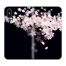 爛漫・桜 iPhone X 合皮 手帳型ケース