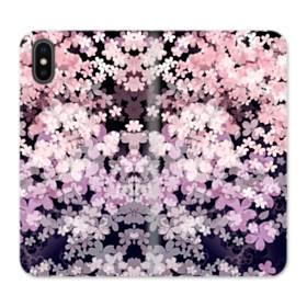 爛漫・夜桜 iPhone X 合皮 手帳型ケース