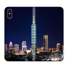 ザ・高層ビル iPhone X 合皮 手帳型ケース