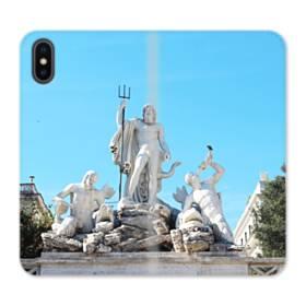 ザ・ローマ iPhone X 合皮 手帳型ケース