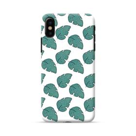 グリーン リーフ モチーフ green leaf motif iPhone X ポリカーボネート ハードケース