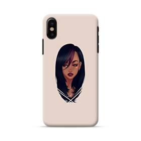 女の子シリーズ005 セーラー服 iPhone X ポリカーボネート ハードケース