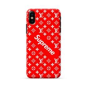 ルイ・ヴィトン&シュプリーム赤バージョン) iPhone X ポリカーボネート ハードケース