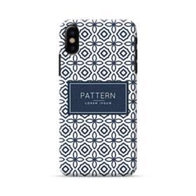 デザイン・アートな幾何図のパターン:紺 iPhone X ポリカーボネート ハードケース