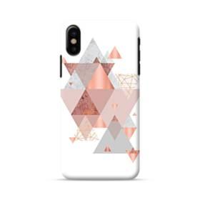 Geometry line pink ジオメトリック 幾何図 三角 抽象的  iPhone X ポリカーボネート ハードケース