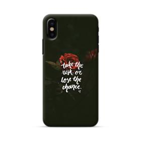 暗黒の中 一凛のバラ iPhone X ポリカーボネート ハードケース