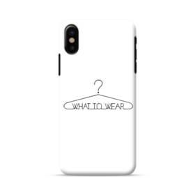 デザイン アルファベット004 what to wear iPhone X ポリカーボネート ハードケース