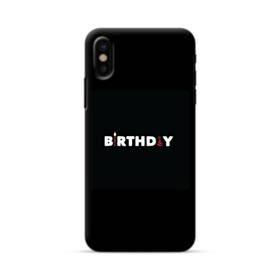 デザイン アルファベット005 birthday iPhone X ポリカーボネート ハードケース