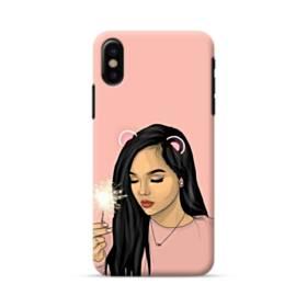 女の子シリーズ001、pink  iPhone X ポリカーボネート ハードケース
