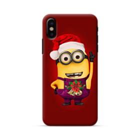 メリー クリスマス かわいいミニオンズ iPhone X ポリカーボネート ハードケース