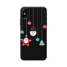 メリー クリスマス デザイン・アクセサリー iPhone X ポリカーボネート ハードケース