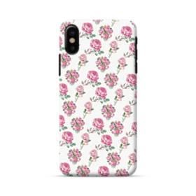 バラ モチーフ iPhone X ポリカーボネート ハードケース