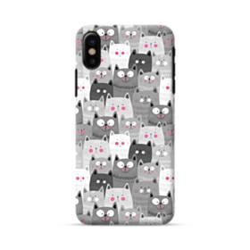 多くの子猫 iPhone X ポリカーボネート ハードケース