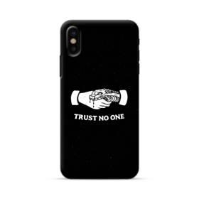デザイン アルファベット008 trust no one iPhone X ポリカーボネート ハードケース