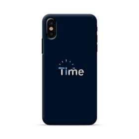 デザイン アルファベット006 time iPhone X ポリカーボネート ハードケース