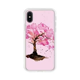 水彩画・桜の木 iPhone X TPU クリアケース