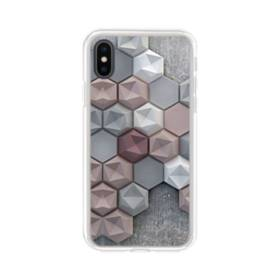 つぶつぶ六角形 iPhone X TPU クリアケース