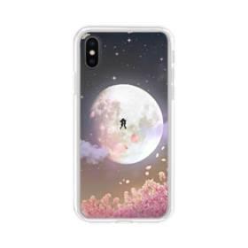 爛漫・夜桜&私たち iPhone X TPU クリアケース