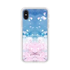 桜の花びら iPhone X TPU クリアケース