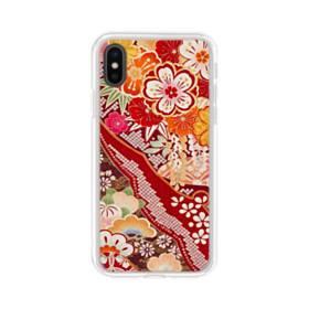 和・花柄 iPhone X TPU クリアケース