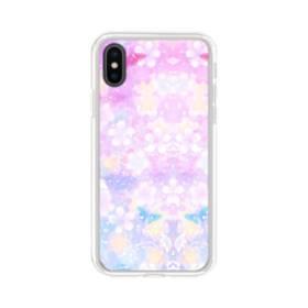 爛漫・抽象的な桜の花 iPhone X TPU クリアケース
