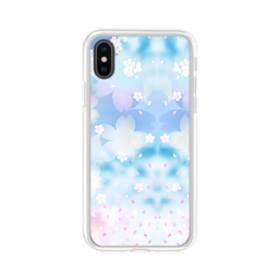 爛漫桜の花 iPhone X TPU クリアケース