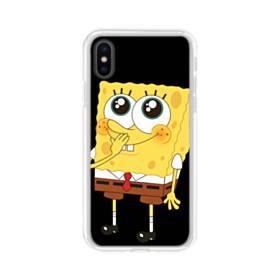 可愛いスポンジボブ iPhone X TPU クリアケース