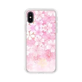 爛漫・ピンク&桜色 iPhone X TPU クリアケース