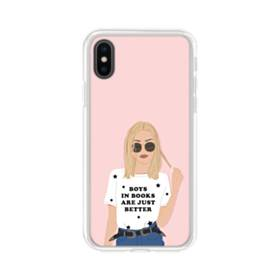 女の子シリーズ003 boys in books are just better iPhone X TPU クリアケース