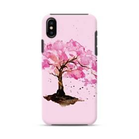 水彩画・桜の木 iPhone X ポリカーボネート タフケース