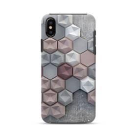 つぶつぶ六角形 iPhone X ポリカーボネート タフケース