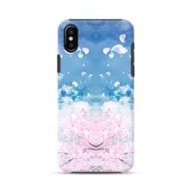 桜の花びら iPhone X ポリカーボネート タフケース
