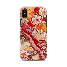 和・花柄 iPhone X ポリカーボネート タフケース