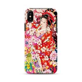 和・花魁&桜 iPhone X ポリカーボネート タフケース