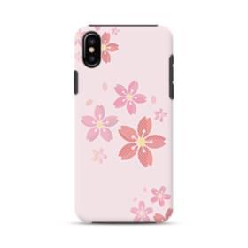 春・桜の花001 iPhone X ポリカーボネート タフケース