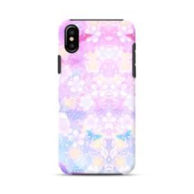 爛漫・抽象的な桜の花 iPhone X ポリカーボネート タフケース