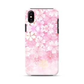 爛漫・ピンク&桜色 iPhone X ポリカーボネート タフケース