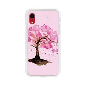 水彩画・桜の木 iPhone XR TPU クリアケース