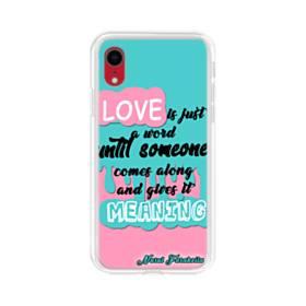 愛の意味 iPhone XR TPU クリアケース