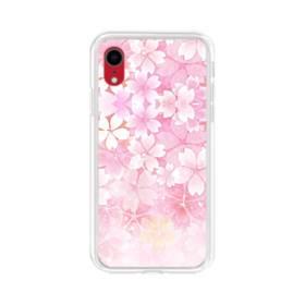 爛漫・ピンク&桜色 iPhone XR TPU クリアケース
