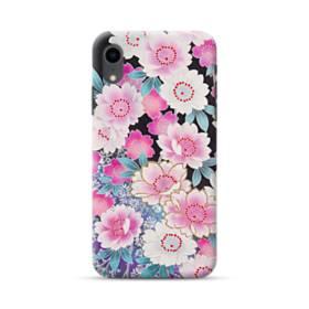 和の花柄 iPhone XR ポリカーボネート ハードケース