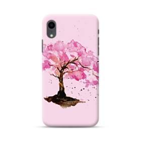 水彩画・桜の木 iPhone XR ポリカーボネート ハードケース
