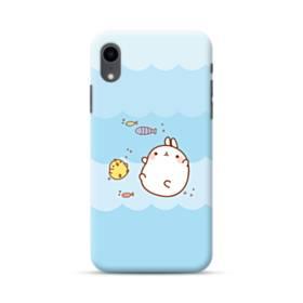 ぽっちゃりウサギ&ヒヨコ iPhone XR ポリカーボネート ハードケース