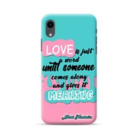 愛の意味 iPhone XR ポリカーボネート ハードケース