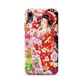 和・花魁&桜 iPhone XR ポリカーボネート ハードケース