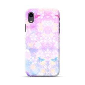 爛漫・抽象的な桜の花 iPhone XR ポリカーボネート ハードケース