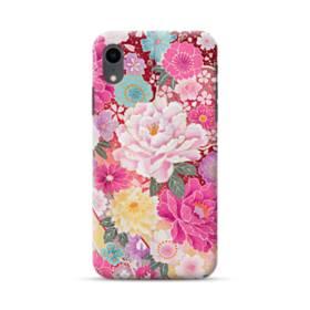 和の花柄:牡丹 iPhone XR ポリカーボネート ハードケース